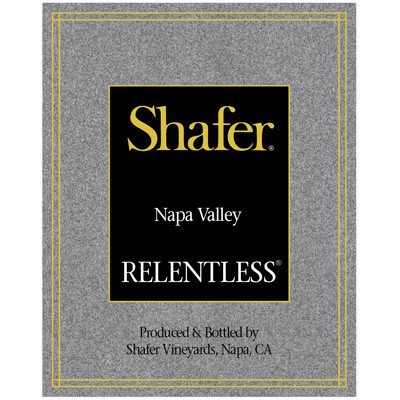 2000 Shafer, Relentless, Napa Valley (750ml) [Torn label.]