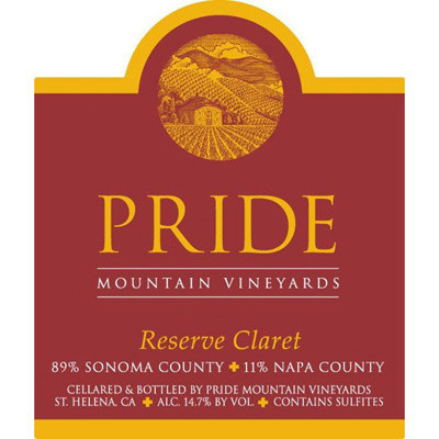 2010 Pride Mountain Vineyards, Reserve Claret, Napa Valley/