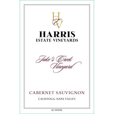 2003 Harris Estate Vineyards Cabernet Sauvignon Jake's Creek