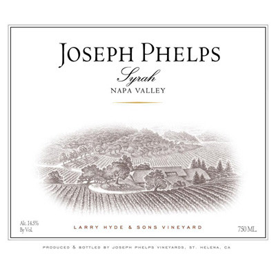 2009 Joseph Phelps Syrah Larry Hyde & Sons Vineyard Napa Valley (750ml) [Wine Stained Label]